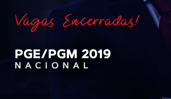 PGE/PGM NACIONAL PRESENCIAL 2019.1