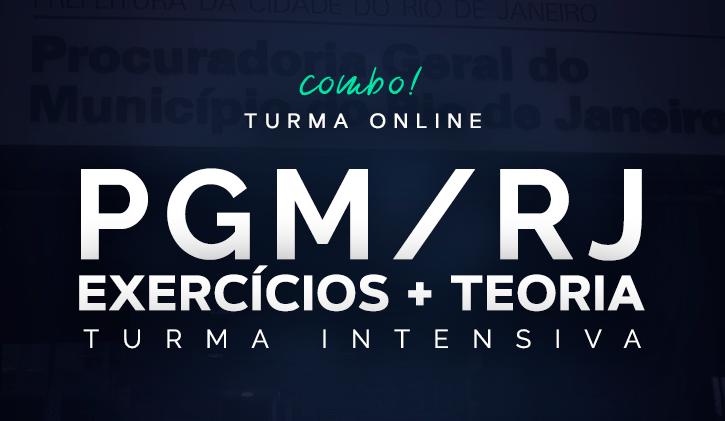 PGM INTENSIVA 2019 - TEORIA E EXERCÍCIOS - ONLINE