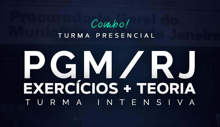 PGM INTENSIVA 2019 - TEORIA E EXERCÍCIOS - PRESENCIAL