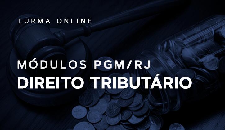 Módulo PGM Direito Tributário 2019