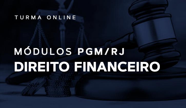 Módulo PGM Direito Financeiro 2019