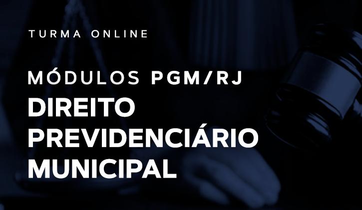 Módulo PGM Previdenciário Municipal 2019