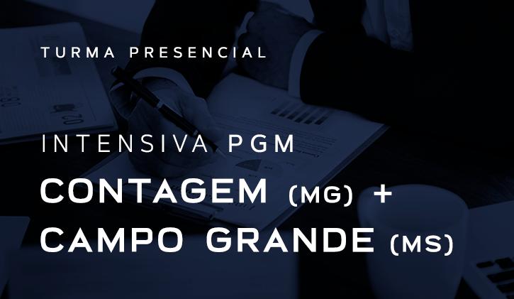 INTENSIVA PGM - CONTAGEM + CAMPO GRANDE 2019 PRESENCIAL