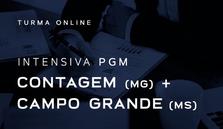 INTENSIVA PGM - CONTAGEM + CAMPO GRANDE 2019 ONLINE