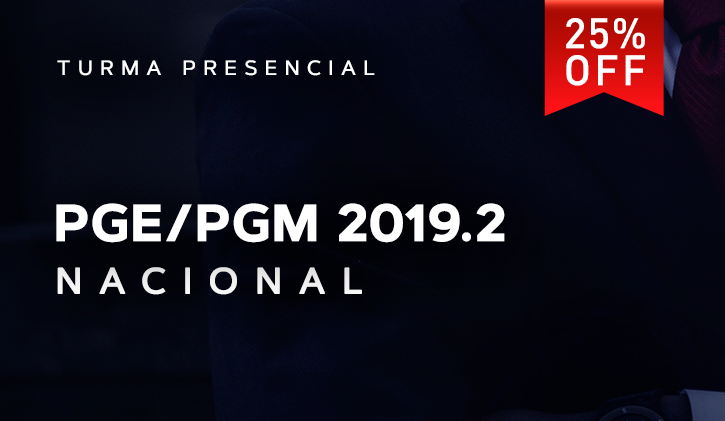 PGE/PGM NACIONAL PRESENCIAL 2019.2