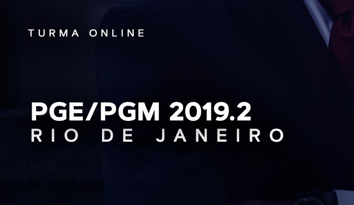 PGE/PGM RIO ONLINE 2019.2