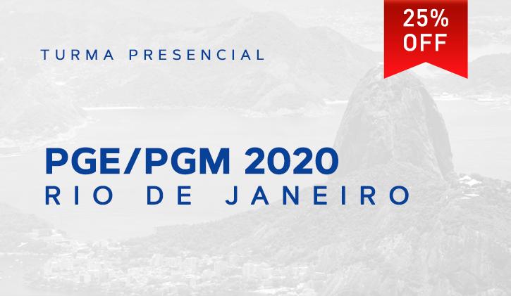 PGE/PGM RIO 2020.1 PRESENCIAL
