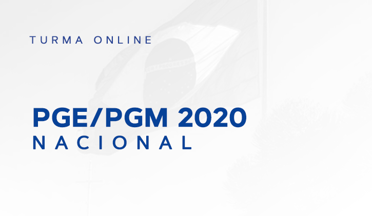 PGE/PGM NACIONAL 2020.1 ONLINE