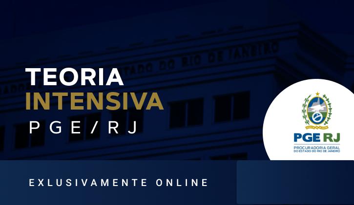 PGE - RJ - TEORIA 2021 - Online