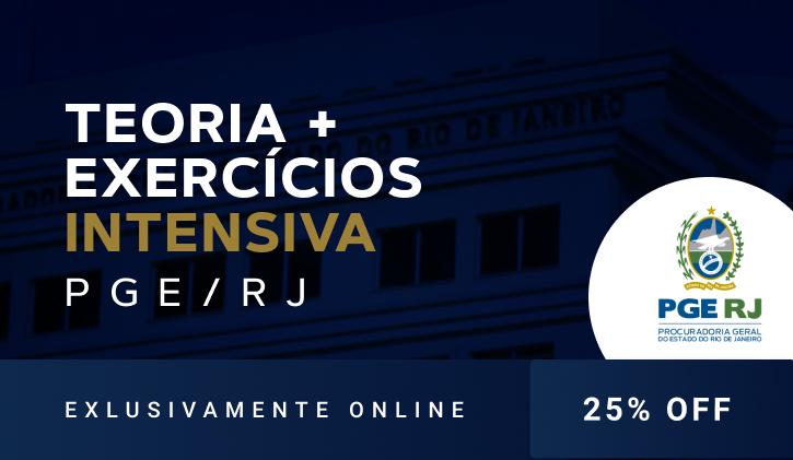PGE RJ 2021 - TEORIA E EXERCÍCIOS - ONLINE